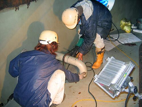 新知名発電所重油貯蔵タンク点検修繕工事2