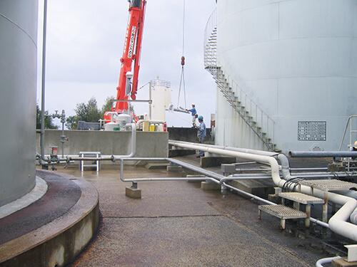 新知名発電所重油貯蔵タンク点検修繕工事3